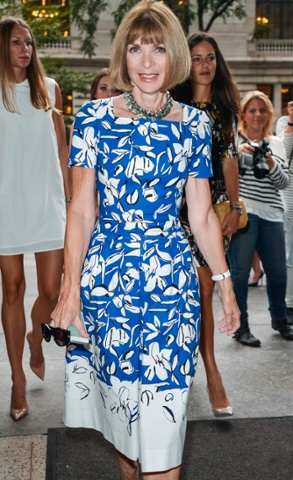 Anna Wintour at the Oscar De La Renta show