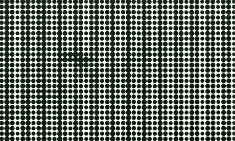 At first glance Coupland's work appears to be Op Art black dots, as in this detail from his The Poet
