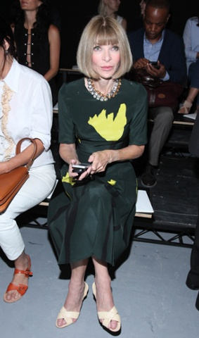 Anna Wintour at the Proenza Schouler show.