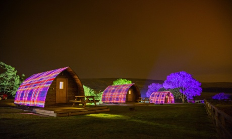 The tartan farm is not a plea for a yes vote, say its creators, but celebrates Scotland 'at this dramatic moment'.