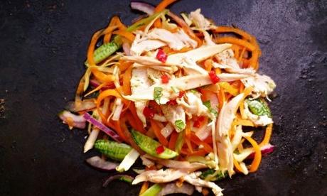lefotver chicken - vietnamese roast chicken salad