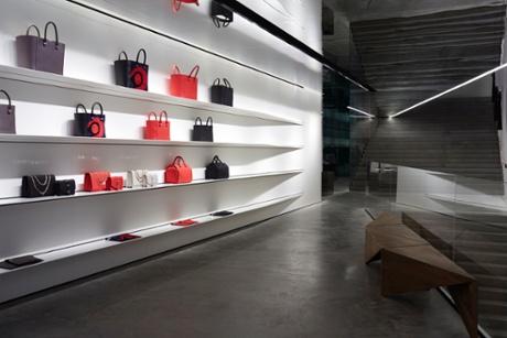 Handbags at Victoria Beckham's shop.