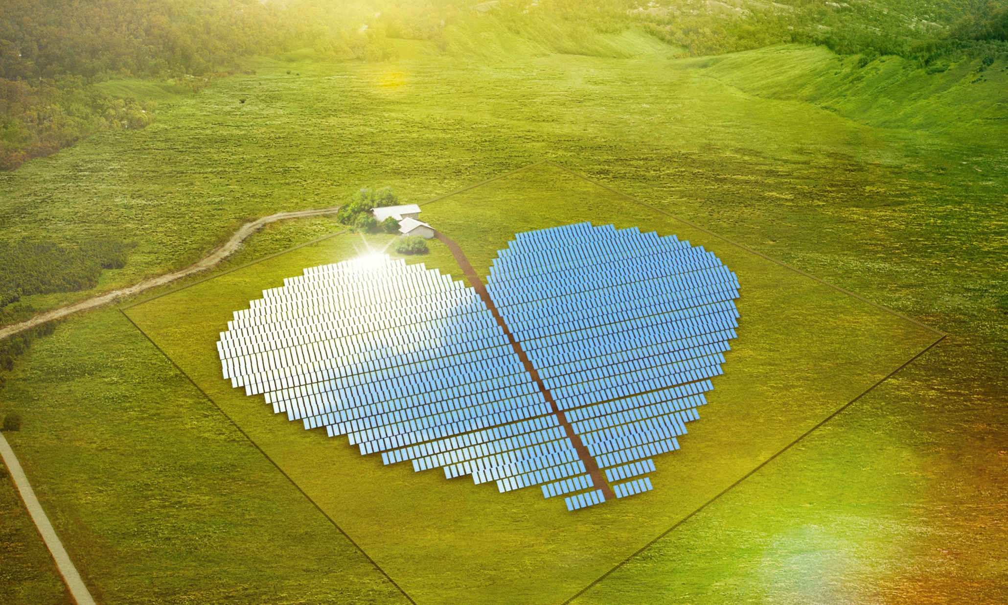 Is This Heart Shaped Solar Farm The World S Most Beautiful