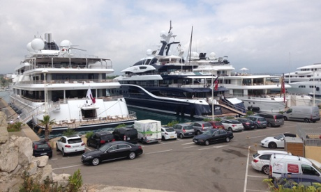 Shore leave: boats are readied in Antibes.