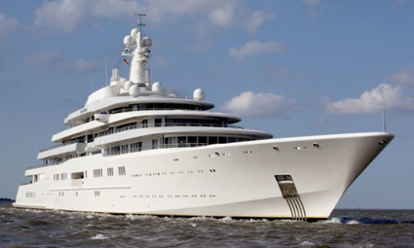 The Eclipse, one of the world's largest yachts, is owned by Roman Abramovich and can be hired for up to £2m a week.