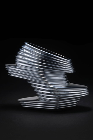 Zaha Hadid X United Nude. NOVA,  2013. Chromed vinyl rubber, kid napa leather, fibreglass.