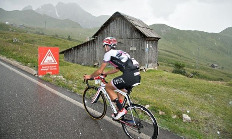 Haute Route Dolomites - whatever the weather, the 1km sign to the top of a col is always welcome.
