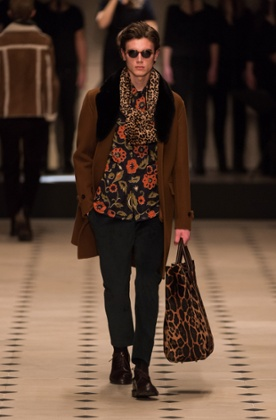 A model on the Burberry Prorsum catwalk