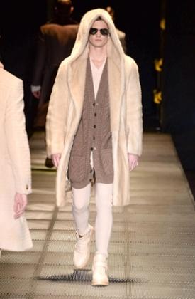 A model on Versace catwalk