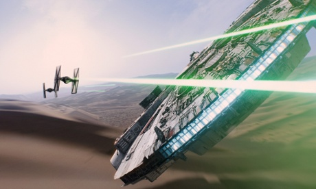 The Millenium Falcon and Tie Fighters