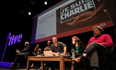The We are Charlie debate chaired by the Rev Dr Giles Fraser at Kings Place, London