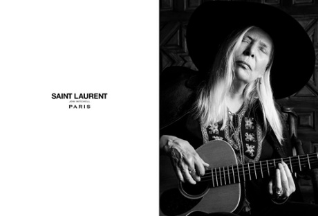 Joni Mitchell for Saint Laurent