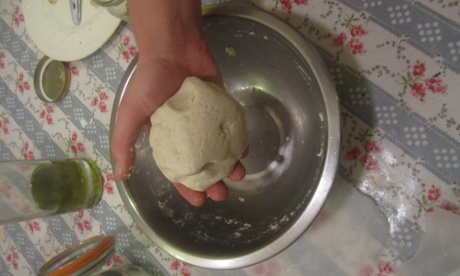 Making the tortilla dough