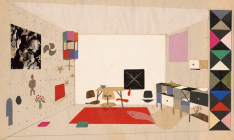 Inside story: collage of room display for An Exhibition for Modern Living, 1949.