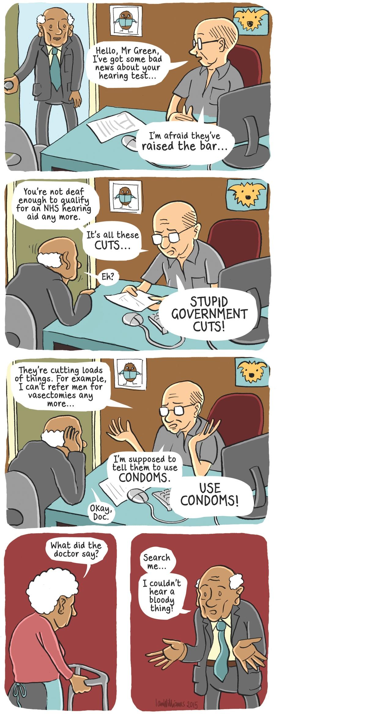 Image result for deaf NHS politicians cartoon