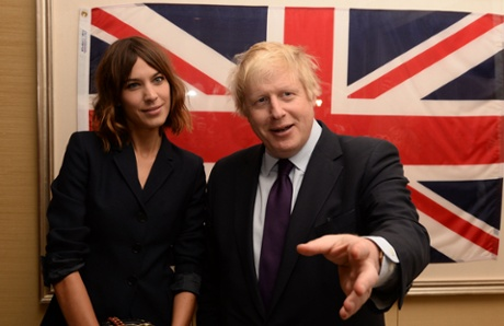 Alexa Chung with Boris Johnson