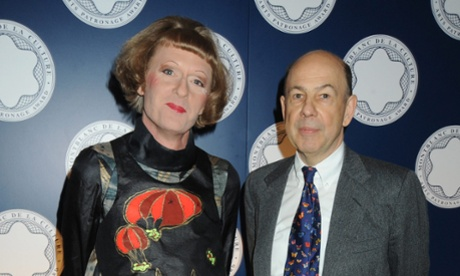 Grayson Perry and Anthony d'Offay attend the Montblanc De La Culture Arts Patronage Award, at the Tate Modern on April 16, 2009 in London, England.
