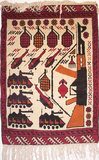 Drones Ak 47s And Grenades Afghan War Rugs Art And