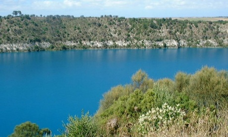 The blue lake at Mount Gambier.