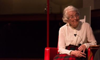 Judith Kerr speaking at the Royal Geographical Society, 12 March 2015.