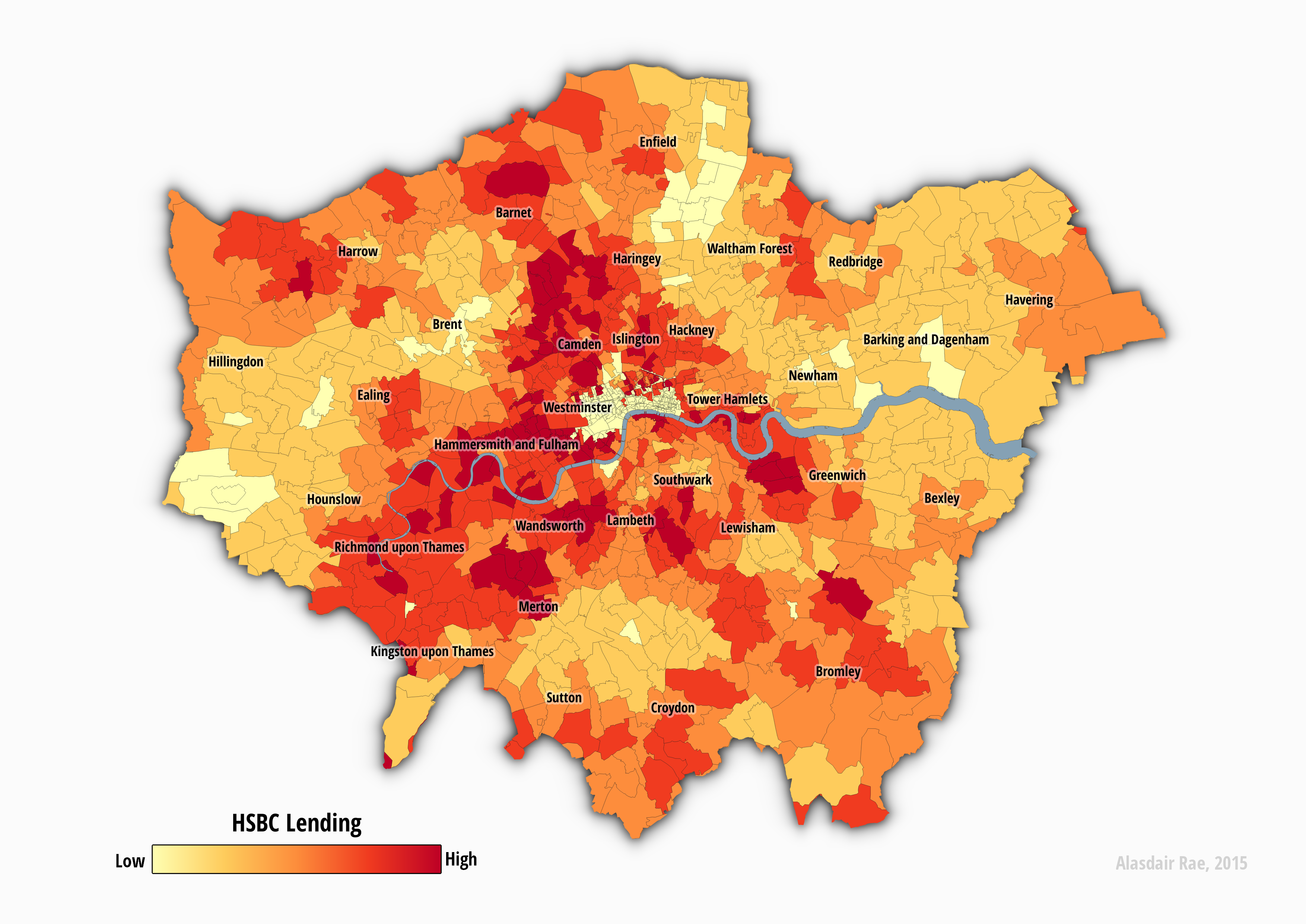 Residential mortgage lending by postcode shows gaps across