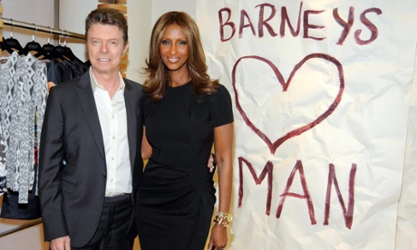Iman and David Bowie at Iman's CFDA Fashion Icon Award at Barneys, in 2010.