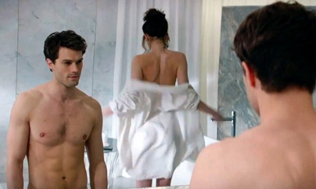 Jamie Dornan and Dakota Johnson in Fifty Shades Of Grey.