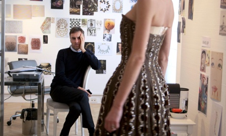 Raf Simons takes inspiration from a 1950s gown from the Christian Dior archive
