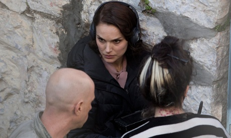 Natalie Portman on set.