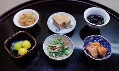 Small dishes at Chihana, Kyoto