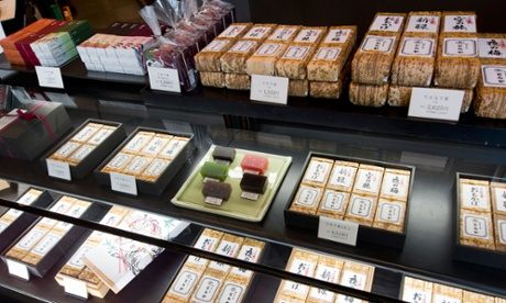 Confectionary at Toraya, one of Japan's most famous sweet shops.
