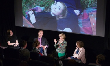 Guardian Film Show (l-r) Rebecca Nicholson, Peter Bradshaw, Carol Morley and Catherine Shoard