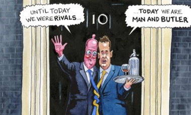 Steve Bell on Cameron and Clegg
