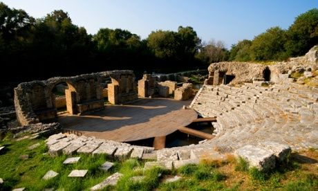 Greek amphitheatre in Butrint national park.