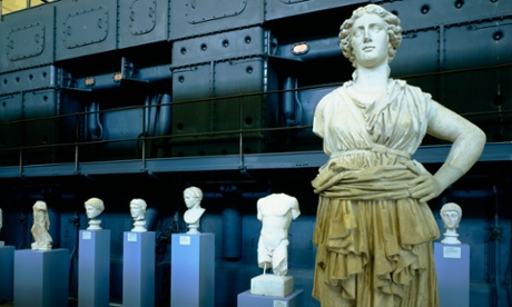 Rome, Italy --- View of Roman Sculpture at the Centrale Montemartini