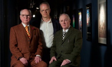 Gilbert & George with Hans Obrich Ulbrist at Guardian Live, King's Place, 20 May 2015.