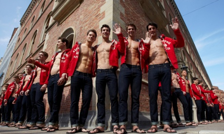Abercrombie & Fitch male models pose