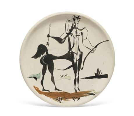 Lot 114 Picasso, Centaure avec chouette.