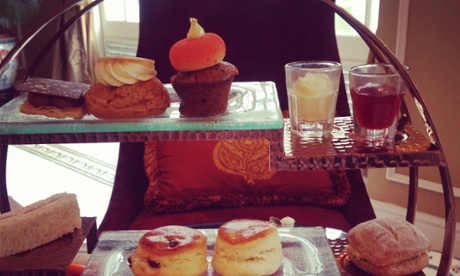 High tea at the Majestic Hotel in Malaysia.