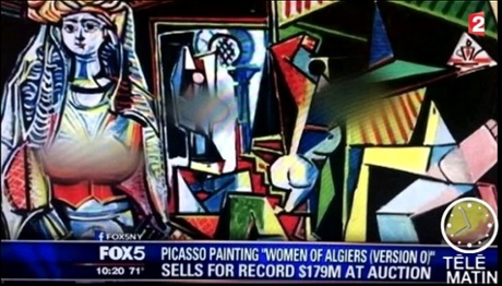 How Fox News reported the sale of Picasso's art work Les femmes d'Alger (Version O)