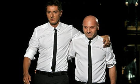 Italian fashion designers Domenico Dolce (left) and Stefano Gabbana.