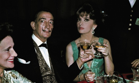 Salvador Dali and Gina Lollobrigida