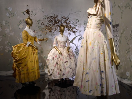 Chinese fashions are displayed as part of China Through the Looking Glass.