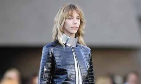 A model for Louis Vuitton