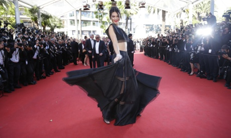 Kendall Jenner, as styled by Alexis Roche at Cannes.