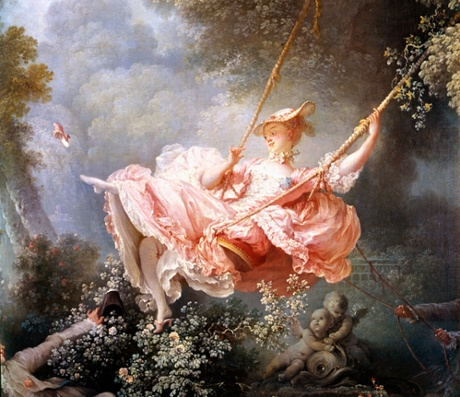 The Swing by Fragonard, 1767 (cropped). Fashion-curated art collections should be more eclectic.