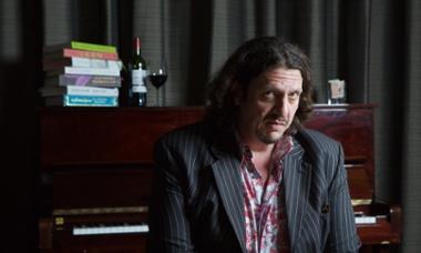 Jay Rayner photographed at The Rotunda, Kings Place, London for Guardian Membership.