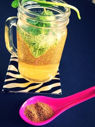 BinnyShah's pic, uploaded to GuardianWitness, of a masala chai mint rum infusion....
