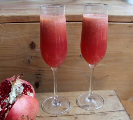 Recipe Swap regular Fadime's pomsecco (pomegranate and peach) cocktail.