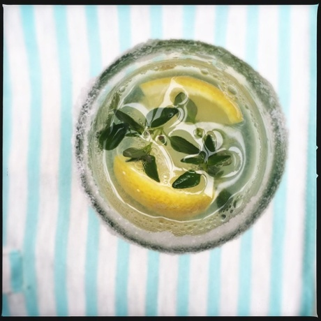 withmustard's vodka-thyme lemonade – with sherbet 'just for fun'.